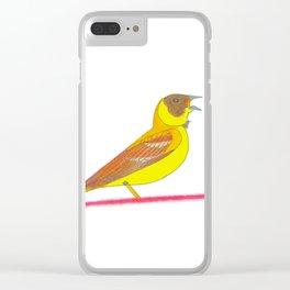 Singing bird Clear iPhone Case
