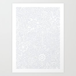 Embossed Powder & Pearl Lace Art Print