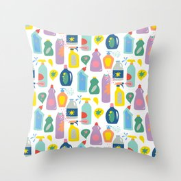 Cleaning Day Throw Pillow