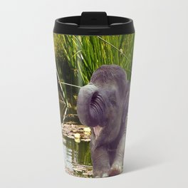 Elephant and Water Travel Mug