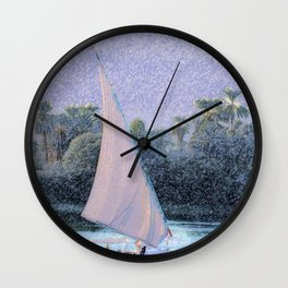 River Nile Ride Wall Clock