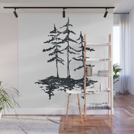THE THREE SISTERS Black and White Wall Mural