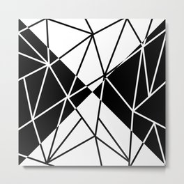 FRACTURE (BLACK-WHITE) Metal Print