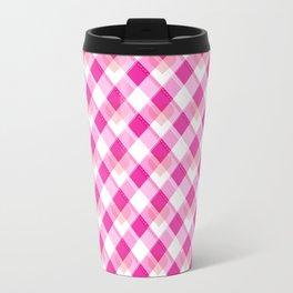Heart Plaid Pattern Travel Mug