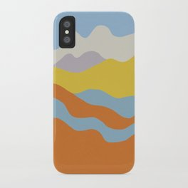 Over The Sunset Mountains iPhone Case