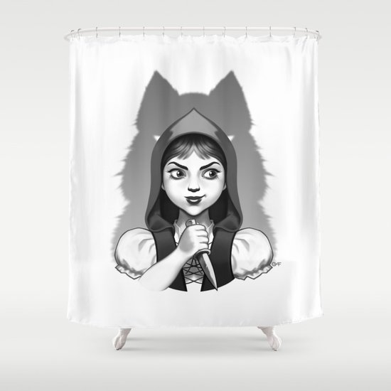 Little Red Riding Hood's Surprise Shower Curtain