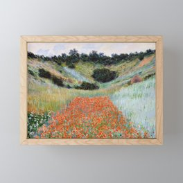 Poppy Field in a Hollow near Giverny by Claude Monet Framed Mini Art Print