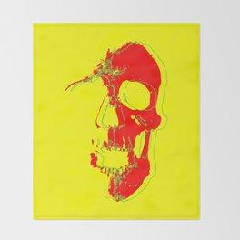 Skull - Red Throw Blanket
