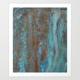 Patina Bronze rustic decor Art Print