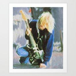 Cobain - Grunge God Art Print