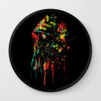 soldier Wall Clocks featuring modern soldier by barmalisiRTB