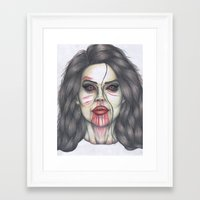 ultraviolence Framed Art Prints featuring ULTRAVIOLENCE by Jeremy Cain
