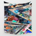 Triangle Forest Abstract Rainbow by homedeco
