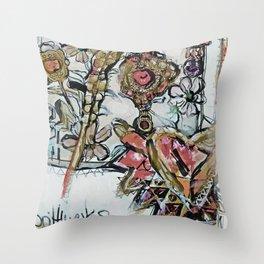 brittmarks Blueten farbig Throw Pillow