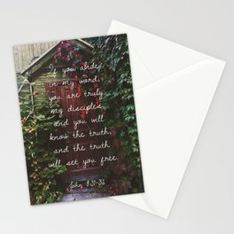 "John 8:31-32 ""And the truth will set you free"" Stationery Cards"