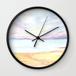 2019 Watercolor Sea Scape Series 004 Watercolor Painting Wall Clock