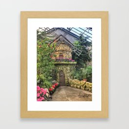 Windmill in Conservatory Framed Art Print