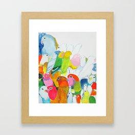 Flock of Birdies Framed Art Print