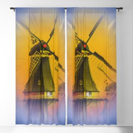 Sailing Romance - Windmills Blackout Curtain