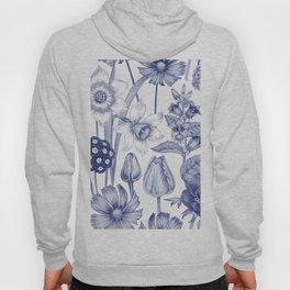 Flowers in Blue Hoody