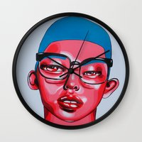 austin Wall Clocks featuring AUSTIN by Zelda Bomba