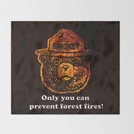 Smokey the Bear Throw Blanket