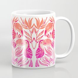 Tropical Toucans – Pink Ombré Palette Coffee Mug
