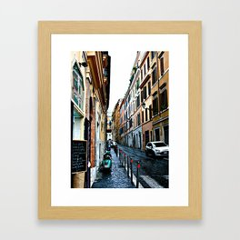 Alley in Rome Italy Framed Art Print