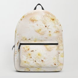 Lost in Antique White Flowers Backpack