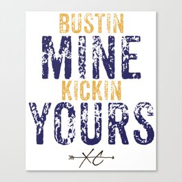 Purple & Gold: Bustin Mine, Kickin Yours Cross Country Canvas Print