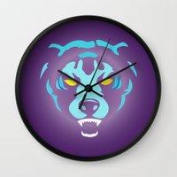 fierce Wall Clocks featuring Fierce by MaNia Creations