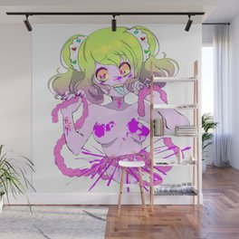 Guro Girl - Splatter CENSORED Wall Mural