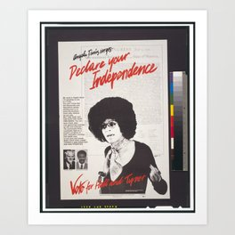 Vintage Poster - Declare Your Independence: Vote for Hall and Tyner (1976) Art Print