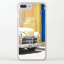 33. Vintage Yellow Chevrolet, Cuba Clear iPhone Case