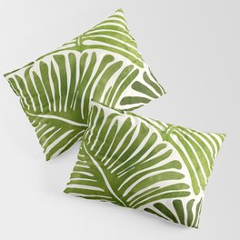 Summer Fern / Simple Modern Watercolor Pillow Sham