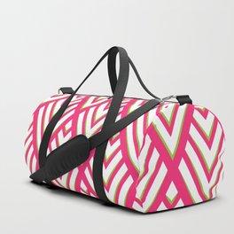 Hot Pink and Neon Green Diamonds Duffle Bag
