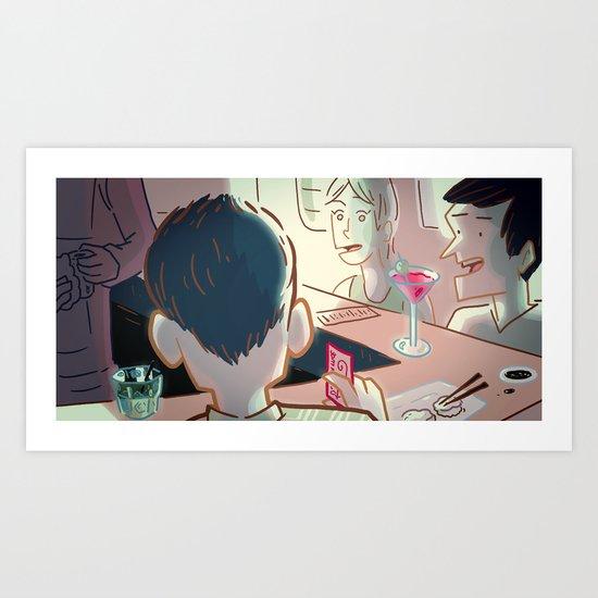 Sushi Serendipity Art Print