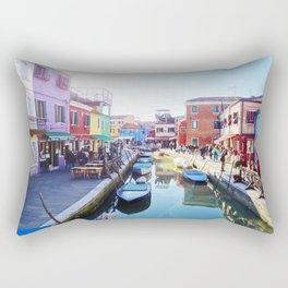 A View of Burano Rectangular Pillow