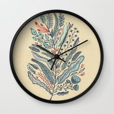 Turning Over A New Leaf Wall Clock