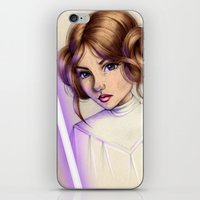princess leia iPhone & iPod Skins featuring Princess Leia by kristen keller reeves