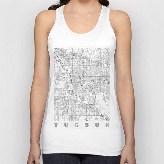 Tucson Map Line Unisex Tank Top