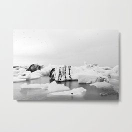 Glacier Lagoon Metal Print