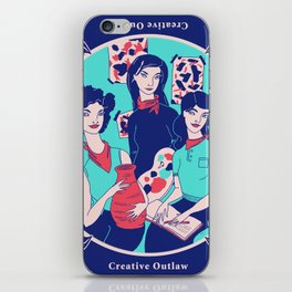 Women Artists (Creative Outlaws) iPhone Skin