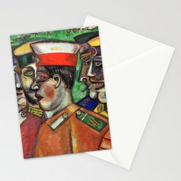 Marc Chagall Soldiers Stationery Cards