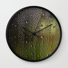 Droplet Landscape I Wall Clock