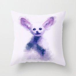fennec foxy Throw Pillow
