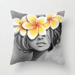 Araliya flower Throw Pillow