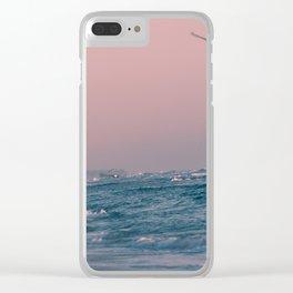 Atlantic Ocean Waves 4168 Clear iPhone Case