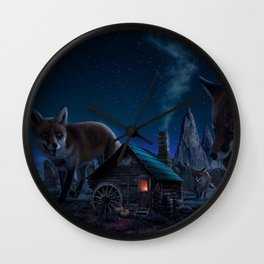 Gorgeous Spectacular Fairytale Giant Canine Little House In Countryside UHD Wall Clock