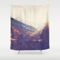 wander Shower Curtains featuring Wander by DesignLove